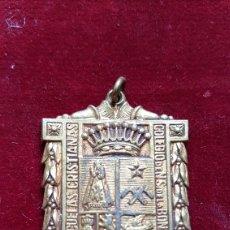 Antigüedades: ANTIGUA MEDALLA HERMANOS ESCUELAS CRISTIANAS COLEGIO N S DE BONANOVA BARCELONA. Lote 268291614