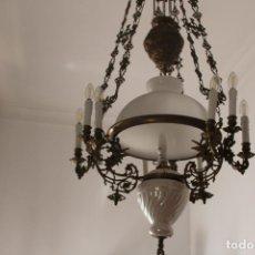 Antigüedades: LAMPARA SUBE Y BAJA DE BRONCE. Lote 268299644
