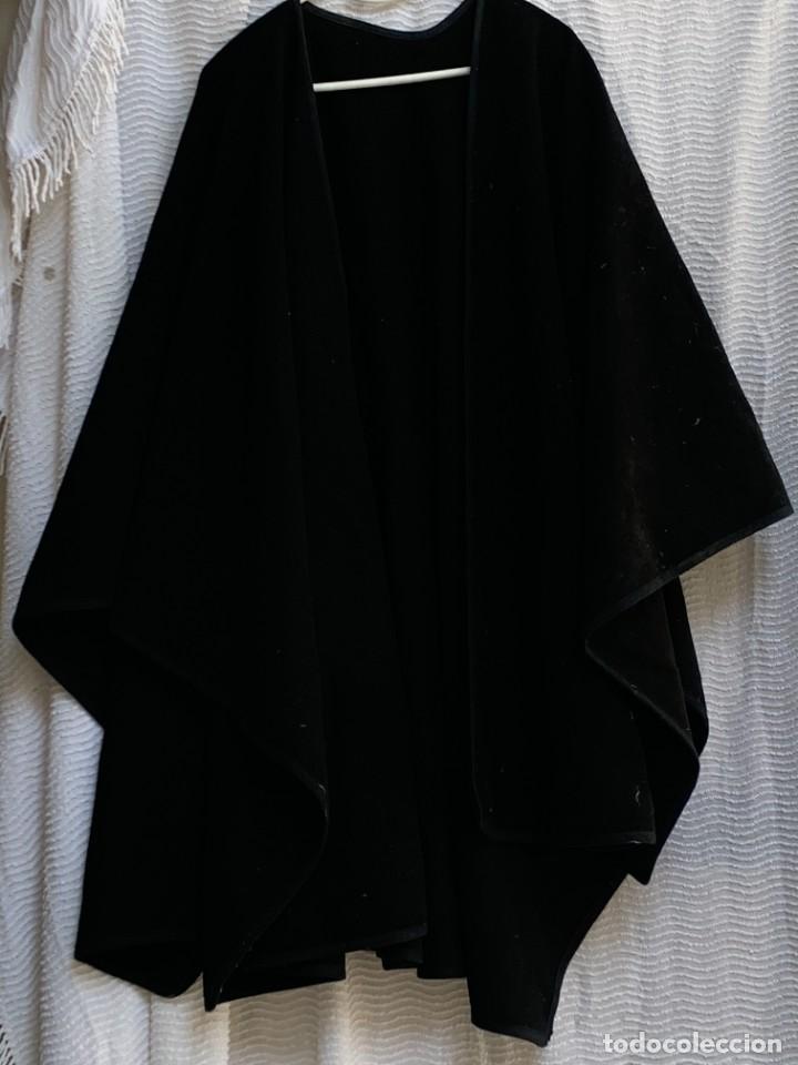 CAPA DE ABRIGO LANA NEGRO VESTIR POPULAR S XIX MUJER HOMBRE CASTILLA 100X150CMS (Antigüedades - Moda y Complementos - Mujer)
