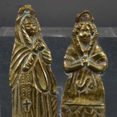 Antigüedades: EXBOTOS METAL DORADO SIGLO XIX. Lote 268451319