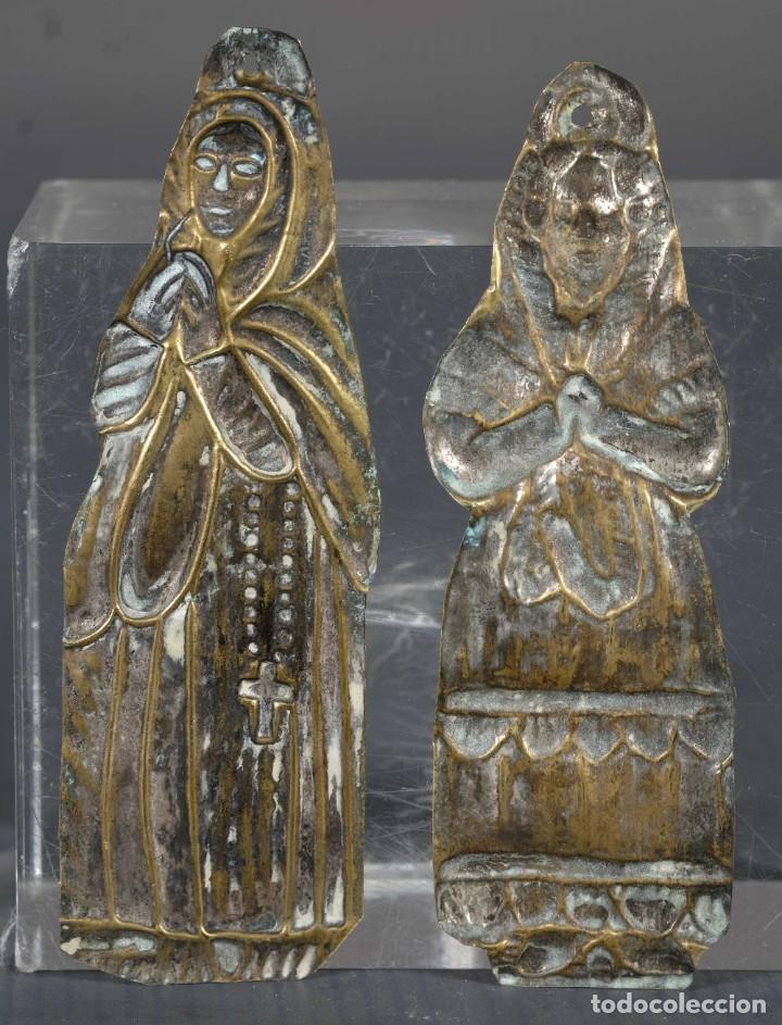 Antigüedades: Exbotos metal dorado siglo XIX - Foto 2 - 268451319