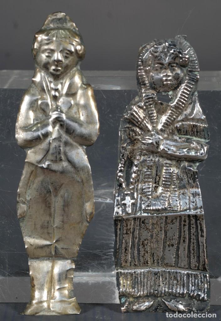 EXBOTOS EN PLATA SIGLO XIX (Antigüedades - Varios)