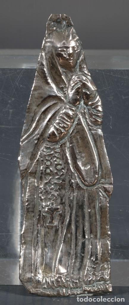 EXBOTO EN PLATA PUBILLA SIGLO XIX (Antigüedades - Varios)