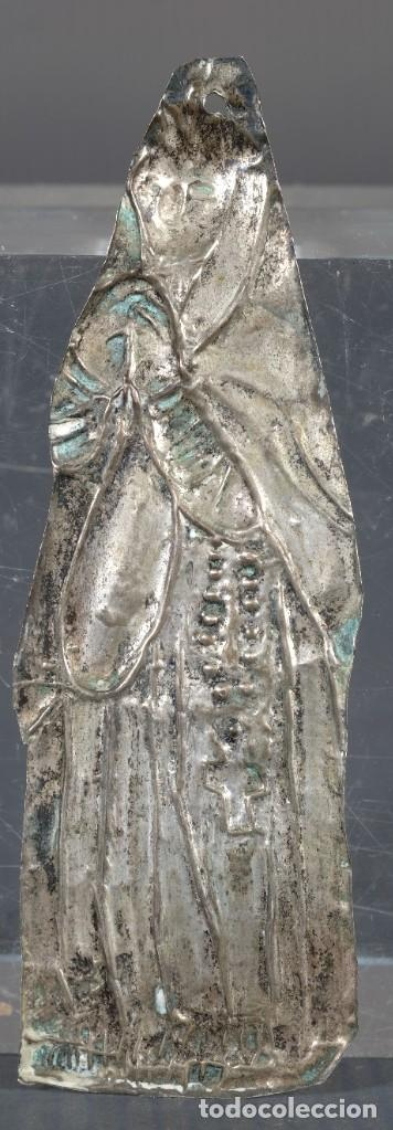 Antigüedades: Exboto en plata pubilla siglo XIX - Foto 2 - 268453194