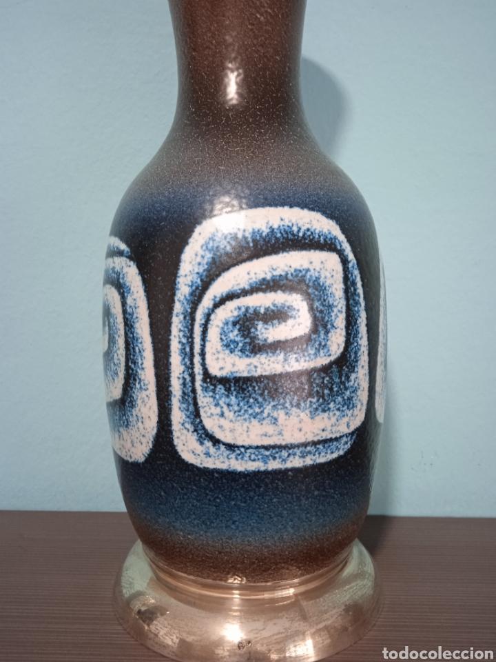 Antigüedades: Gran jarron de cerámica Serra con base de plata - Foto 3 - 268471379