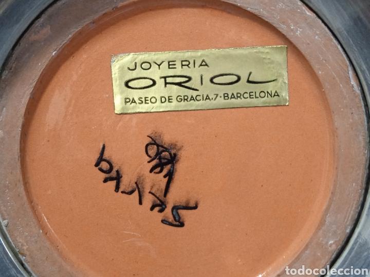 Antigüedades: Gran jarron de cerámica Serra con base de plata - Foto 6 - 268471379