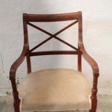 Antigüedades: SILLON DE MADERA DE HAYA. Lote 268575194