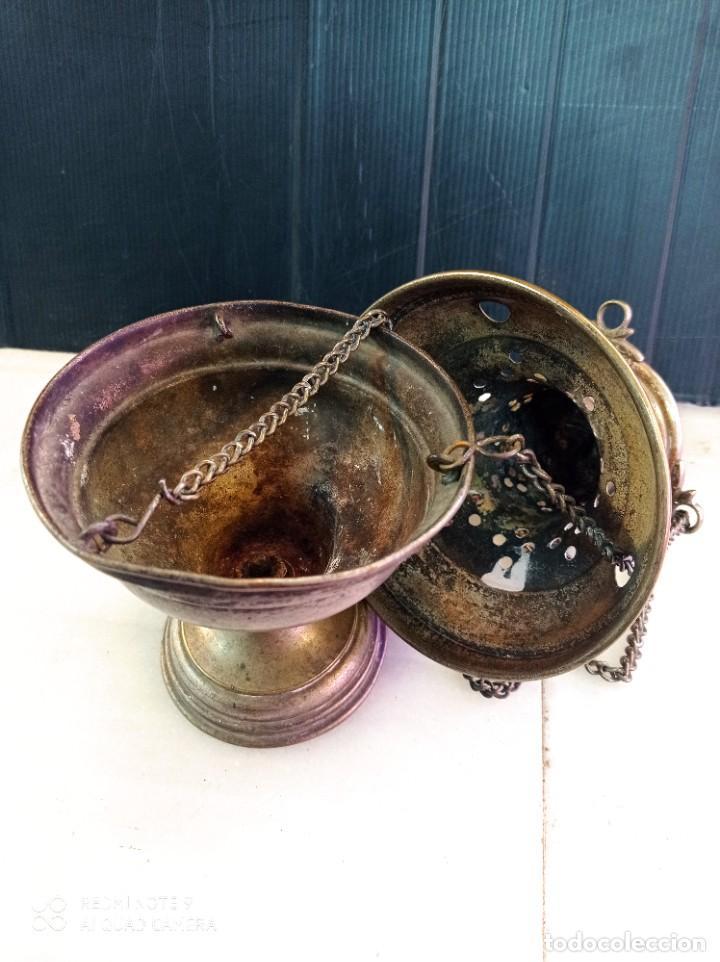 Antigüedades: Antiguo botafumeiro, de bronce creo - Foto 2 - 268581794