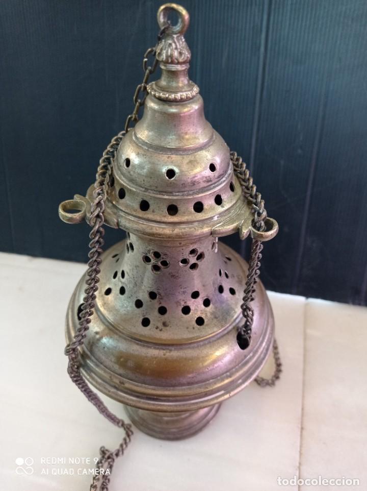 Antigüedades: Antiguo botafumeiro, de bronce creo - Foto 3 - 268581794
