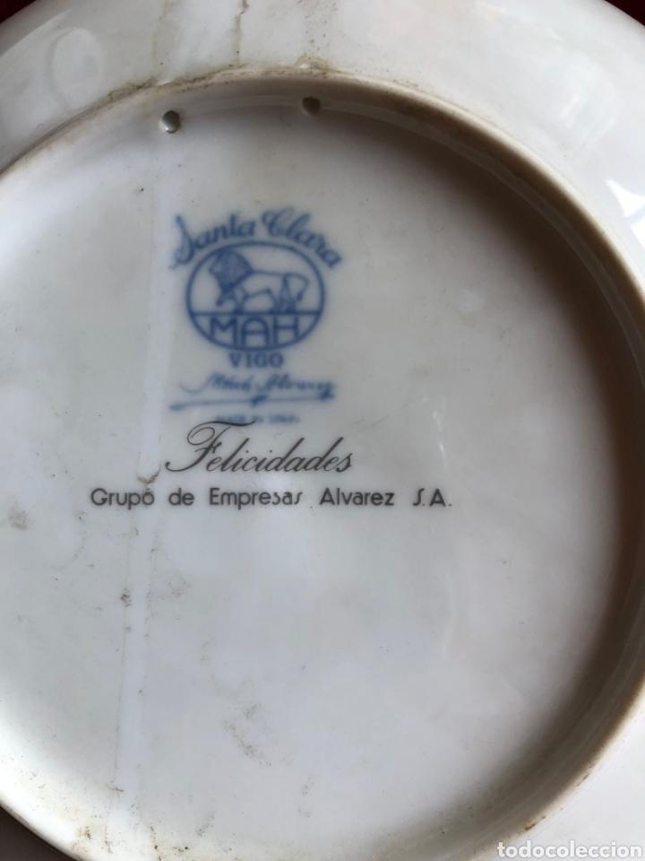 Antigüedades: 7 PLATOS DE SANTA CLARA. PORCELANA AZUL. 21 CM. - Foto 5 - 268604259