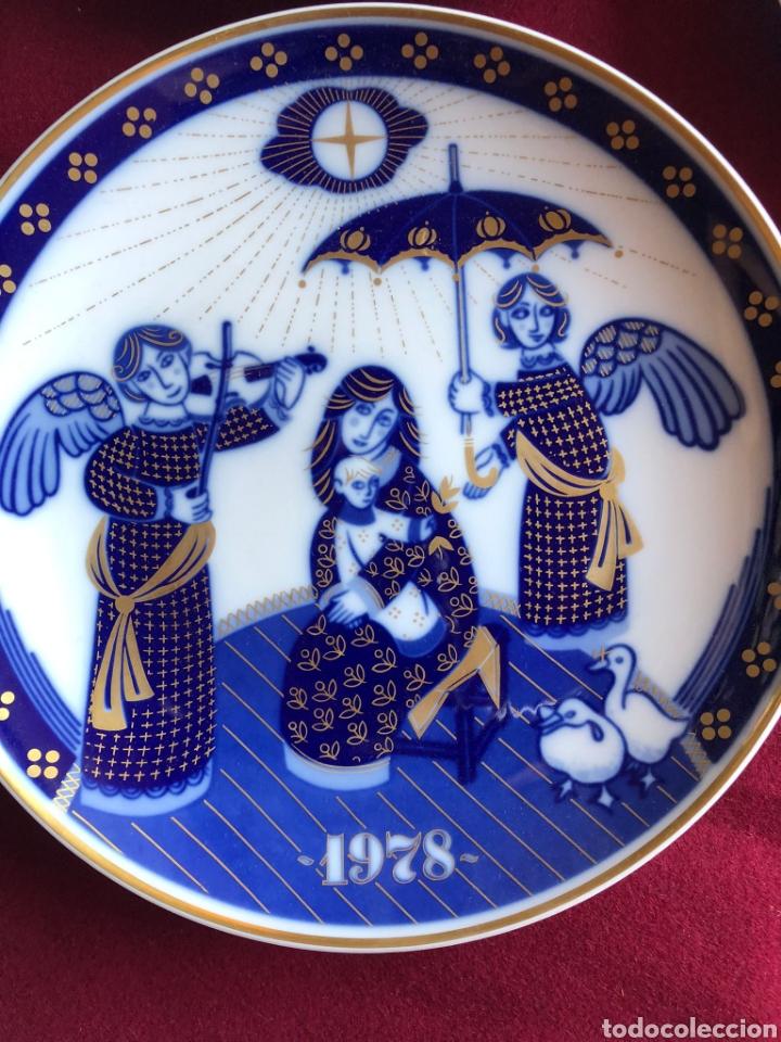 Antigüedades: 7 PLATOS DE SANTA CLARA. PORCELANA AZUL. 21 CM. - Foto 7 - 268604259