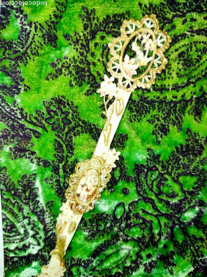 Antigüedades: ESPECTACULAR VARILLAJE COMPLETO EN MARFIL Ó HUESO MUY TRABAJADO 1870-1890s - Foto 5 - 268610624