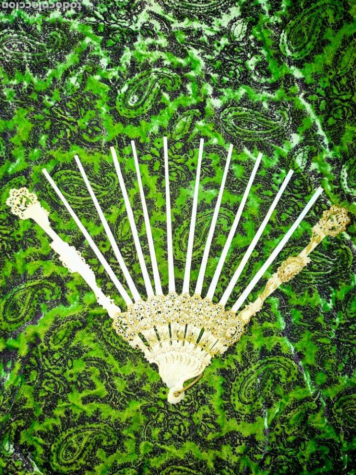 Antigüedades: ESPECTACULAR VARILLAJE COMPLETO EN MARFIL Ó HUESO MUY TRABAJADO 1870-1890s - Foto 6 - 268610624