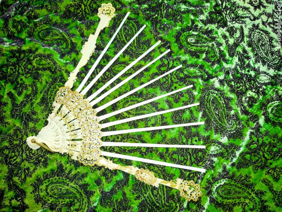Antigüedades: ESPECTACULAR VARILLAJE COMPLETO EN MARFIL Ó HUESO MUY TRABAJADO 1870-1890s - Foto 12 - 268610624