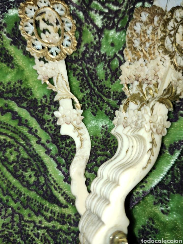 Antigüedades: ESPECTACULAR VARILLAJE COMPLETO EN MARFIL Ó HUESO MUY TRABAJADO 1870-1890s - Foto 22 - 268610624