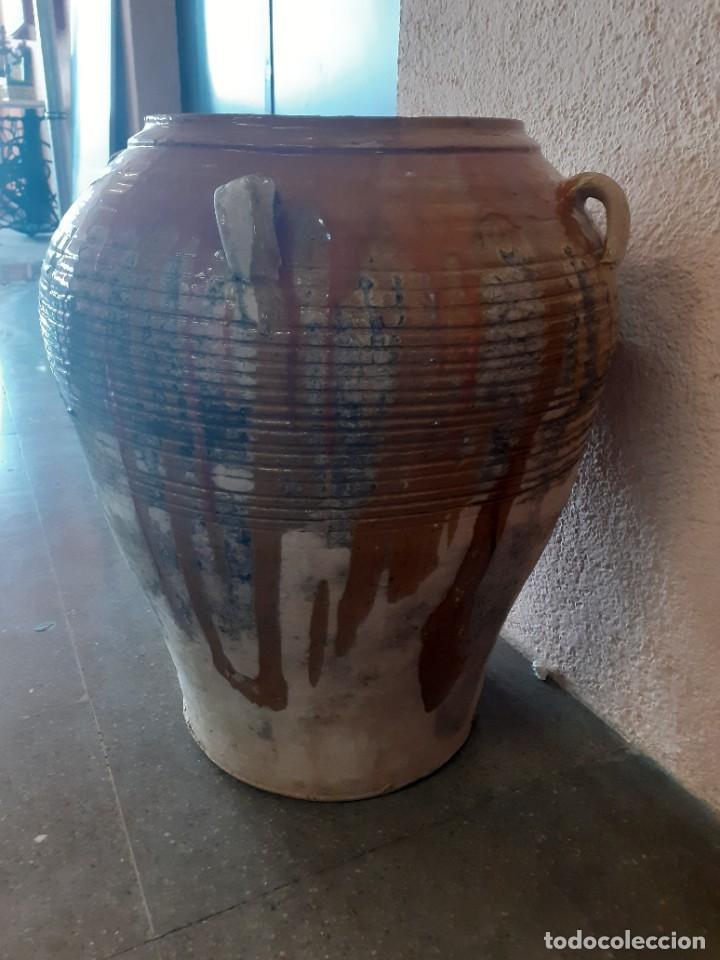 Antigüedades: Tinaja tina catalana esmaltada 58 x 47 cms - Foto 2 - 268615724