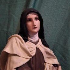 Antiques: MAGNIFICA SANTA TERESA DE OLOT, PASTA MADERA. Lote 268618444