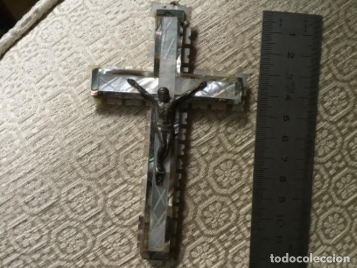 Antigüedades: Cruz de Jerusalem nacar - Foto 3 - 268732194