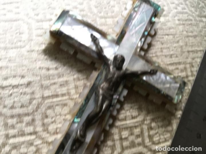 Antigüedades: Cruz de Jerusalem nacar - Foto 4 - 268732194