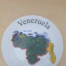 Antigüedades: PLATO DE PORCELANA, DECORACIÓN DE VENEZUELA. Lote 268802979