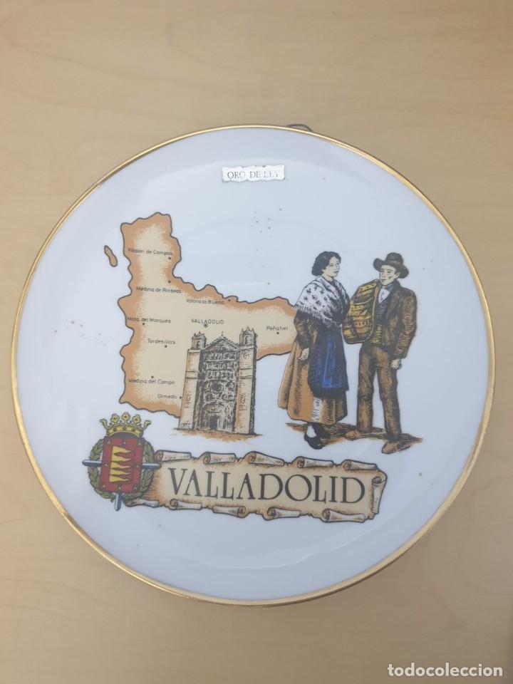 PLATO DE PORCELANA DE VALLADOLID, ORO DE LEY (Antigüedades - Hogar y Decoración - Platos Antiguos)