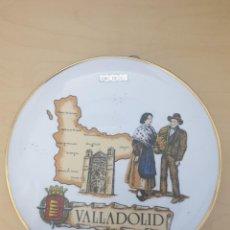 Antigüedades: PLATO DE PORCELANA DE VALLADOLID, ORO DE LEY. Lote 268804074