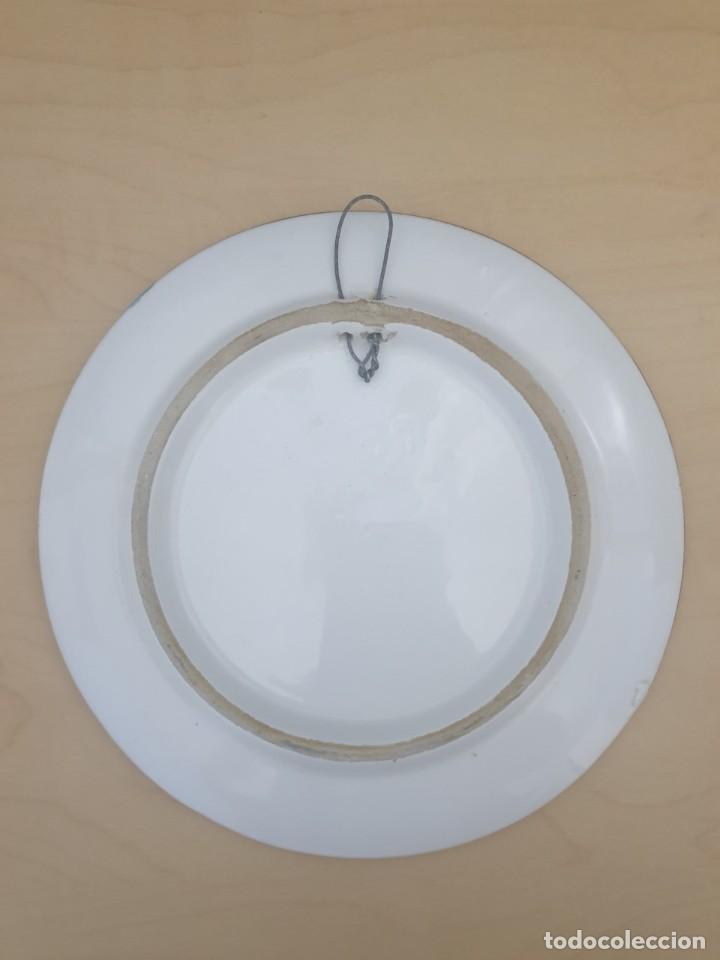 Antigüedades: Plato de cerámica Ibiza, firmado - Foto 2 - 268804729