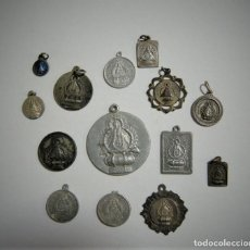 Antiguidades: LOTE 14 MEDALLAS VIRGEN CABEZA, ANDUJAR, JAEN. Lote 268807744