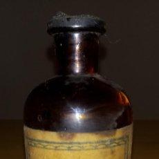 Antigüedades: ANTIGUA BOTELLA FRASCO CRISTAL - LABORATORIO - 9.5 X 4 CMS. Lote 268821199