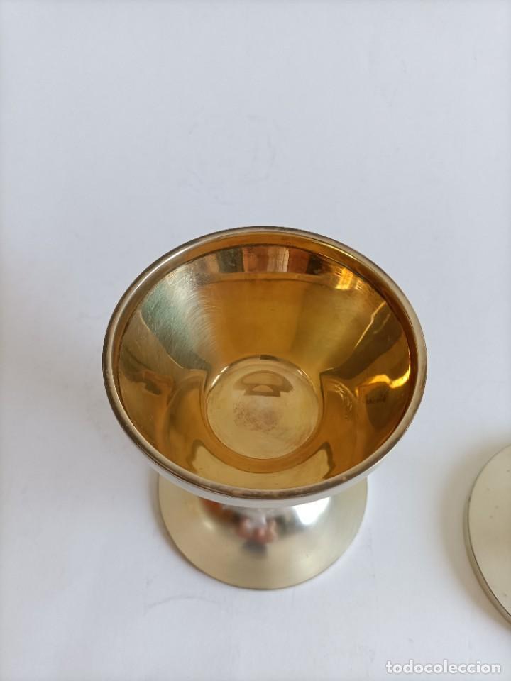 Antigüedades: Copon en plata de ley matizada , Alt. 13,5 cms. - Foto 2 - 268827774