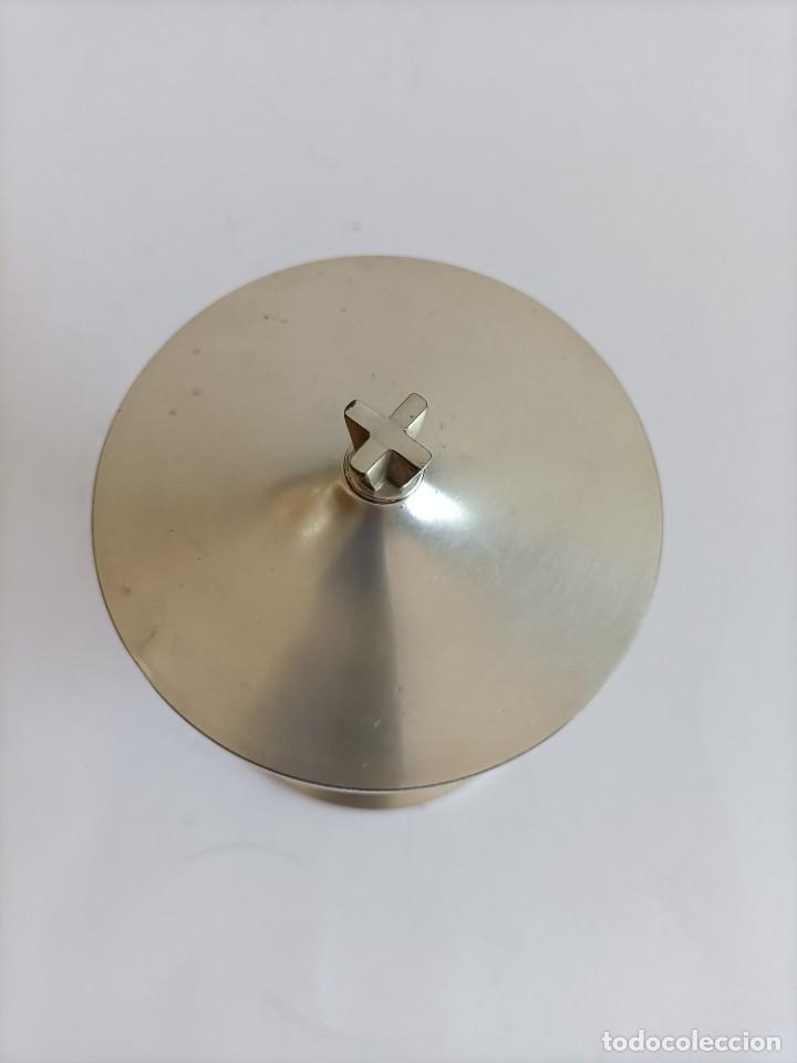 Antigüedades: Copon en plata de ley matizada , Alt. 13,5 cms. - Foto 3 - 268827774