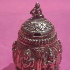 Antigüedades: ANTIGUA SALSERA TAILANDESA EN PLATA MACIZA. Lote 268839494
