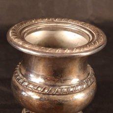 Antiquités: RECIPIENTE DISEÑO CRÁTERA EN PLATA DE LEY PUNZONADA. AÑOS 40.. Lote 268846924