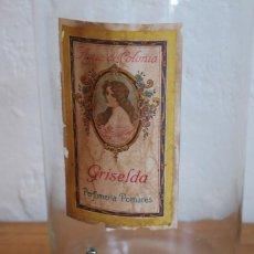 Antigüedades: FRASCO DE COLONIA PERFUME - AGUA COLONIA GRISELDA - DISPENSADOR DE CRISTAL CON GRIFO ORIGINAL. Lote 268876219