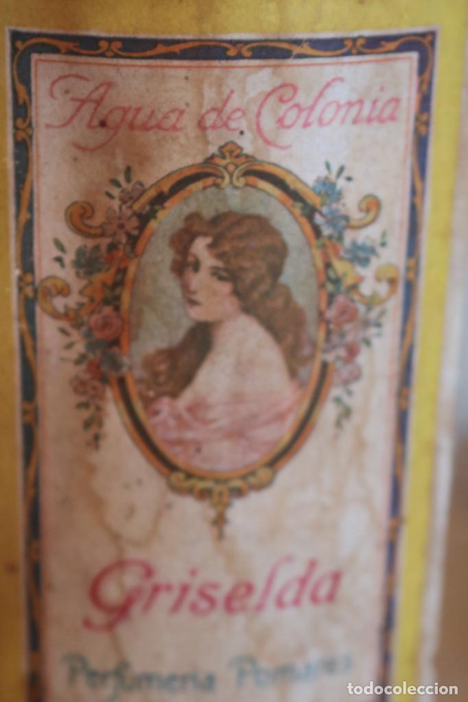 Antigüedades: FRASCO DE COLONIA PERFUME - AGUA COLONIA GRISELDA - DISPENSADOR DE CRISTAL CON GRIFO ORIGINAL - Foto 3 - 268876219