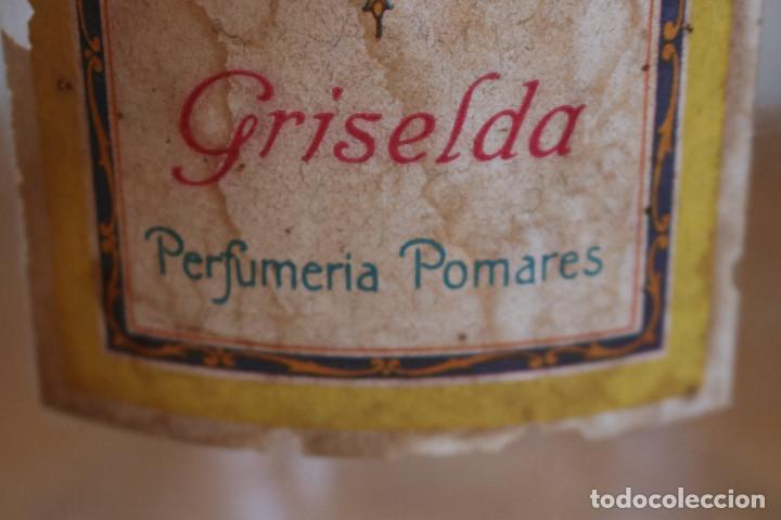 Antigüedades: FRASCO DE COLONIA PERFUME - AGUA COLONIA GRISELDA - DISPENSADOR DE CRISTAL CON GRIFO ORIGINAL - Foto 4 - 268876219
