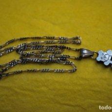 Antigüedades: CADENA DE PLATA CON COLGANTE .. Lote 268888499