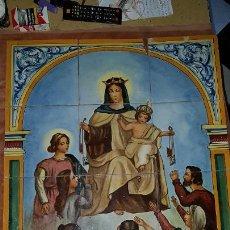 Antigüedades: RETABLO CERAMICO. FIRMADO. Lote 268892064