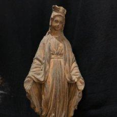 Antigüedades: VIRGEN EN ESRUCO, SELLO DE OLOT. IDEAL PARA ALTARO CAPILLA MIDE 23 CMS EN TOTAL. Lote 268893169