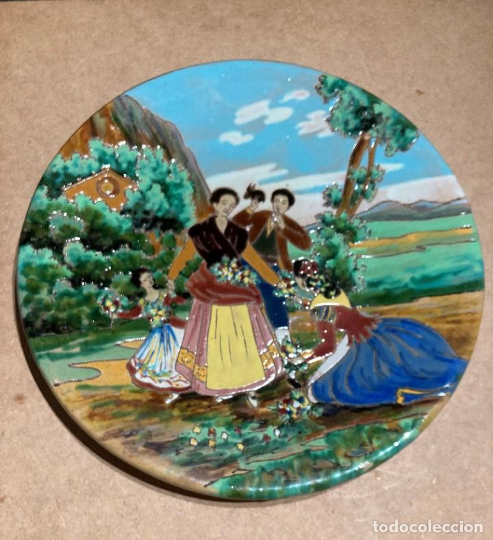 Antigüedades: Plato de cerámica de Triana - Foto 3 - 268904059