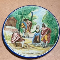 Antigüedades: PLATO DE TRIANA CON MOTIVO GOYESCO. Lote 268904119