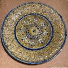 Antigüedades: GRAN PLATO DE CERÁMICA DE TRIANA. Lote 268904424