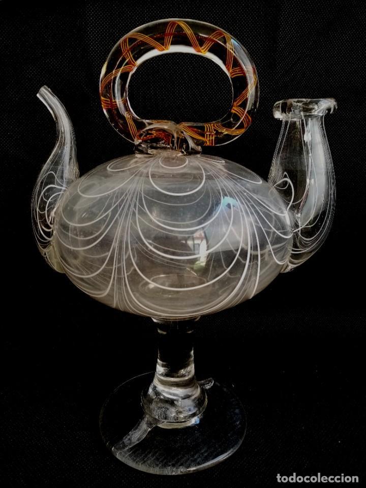 ANTIGUO CANTIR VIDRIO SOPLADO P.S.XX (Antigüedades - Cristal y Vidrio - Catalán)