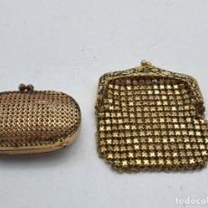 Antigüedades: 2 BOLSOS EN METAL DE PEQUEÑO TAMAÑO ( ANTIGOS ) VER FOTOS. Lote 268921804