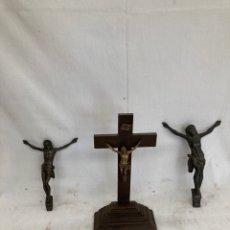Antiguidades: LOTE CRUCIFIJO DE MESA Y JESUS(DOS)!. Lote 268924189