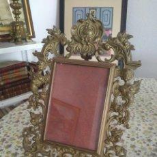 Antigüedades: MARCO DE FOTOGRAFÍA O PORTARRETRATOS DE BRONCE. Lote 268931544