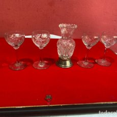 Antigüedades: JUEGO DE CRISTAL BOHEMIA ORIGINAL CON PLATA . VER FOTOS. Lote 268937224