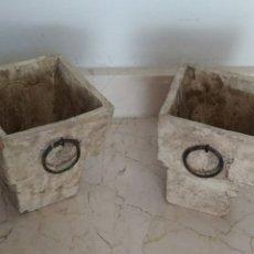 Antigüedades: DOS PAREJA DE MACETAS , MIRAR LAS FOTOS Y LA DESCRIPCIÓN. Lote 268939864