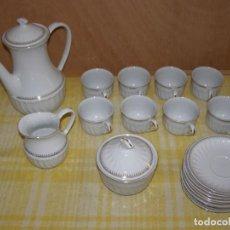 Antigüedades: ANCIEN SERVICE À CAFÉ EN PORCELAINE, 19 PIÈCES. Lote 268945814