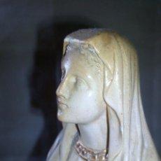 Antigüedades: ~~~~ ANTIGUA IMAGEN DE ESTUCO SELLADA, VIRGEN, MIDE 26 CM.~~~~. Lote 268948874